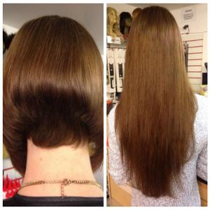 Short hair to long hair transformation