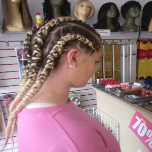 Dutch braids style